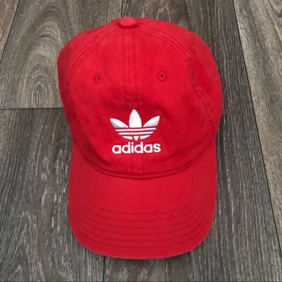 95b39d2e0ebf3 adidas Accessories - Red Adidas Dad Hat